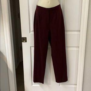 Casual Corner burgundy dress pants sz. 4